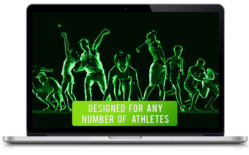 Designed for any number of athletes
