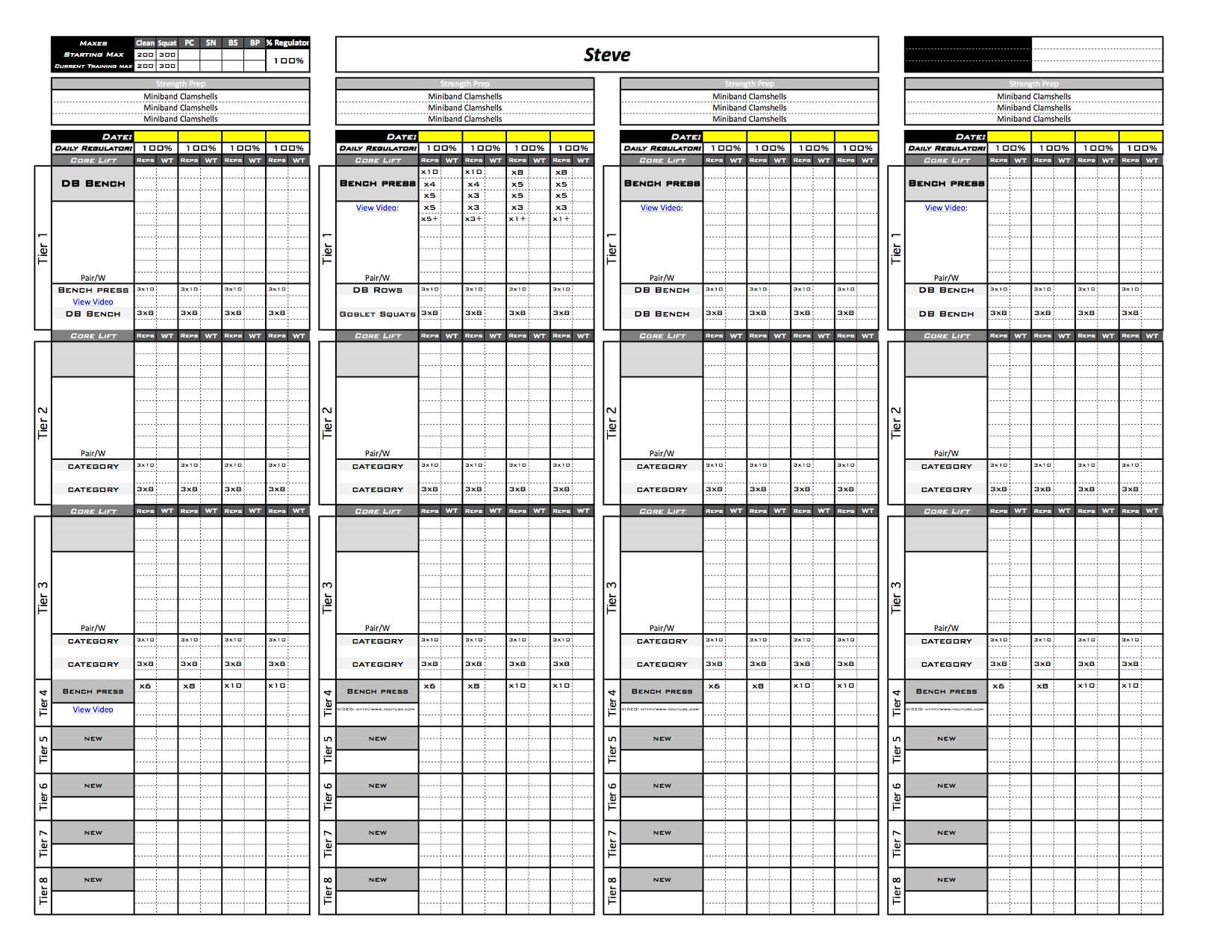 online training template excel training designs
